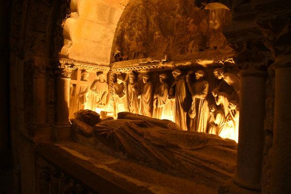 Een van de vele nissen in de kathedraal