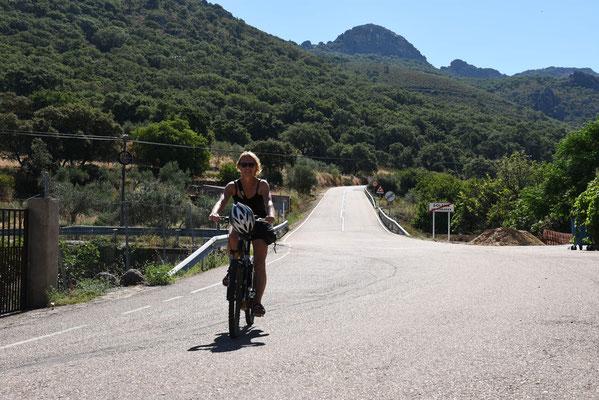 Begin van onze fietstocht naar Cabanas del Castillo