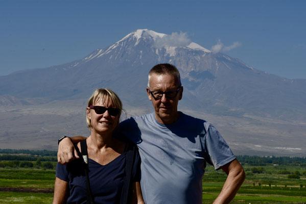Khor Virap: op de achtergrond Ararat