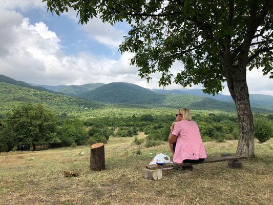Onze laatste lunch onderweg in de buurt van Tbilisi