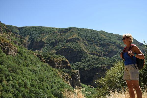 De vallei waar Geghard gelegen is