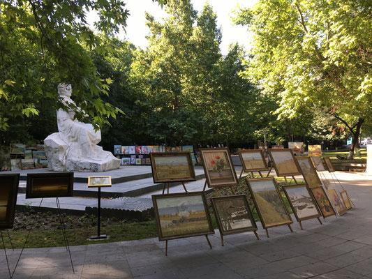 Een van de vele leuke wijken in Yerevan. Dit deed een beetje denken aan Montmartre.