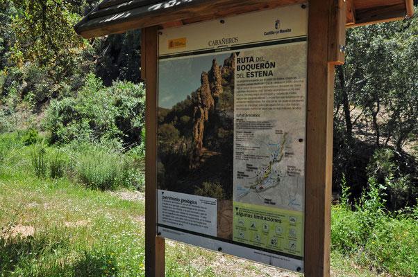 Begin van de prachtige wandeling 'Senda del Boquerón'