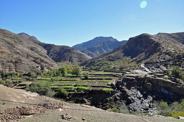 Landschap tijdens de oversteek van de Tizi n'Tichka
