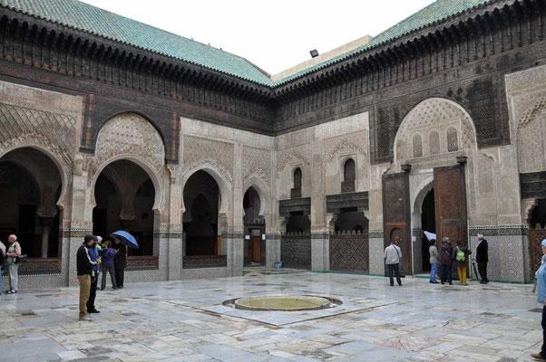 Binnenplein van de 'Medersa Bou Inania' (madrassa of koranschool)