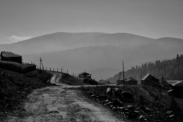 Bovenop Goderzi-pass