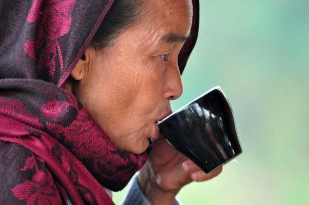 Hill Tribe woman van de Marma tribe