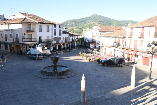het charmante en kleine 'plaza mayor' van Guadalupe