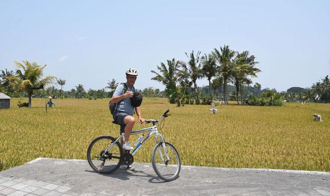 Fietsend doorheen Balinese platteland