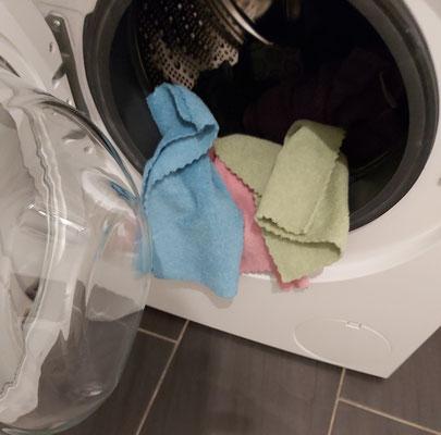 Ab in die Waschmaschine
