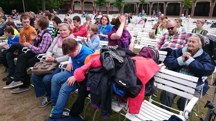 Kurz vor´m Auftritt in der Konzertmuschel des Kurparks Lüneburg