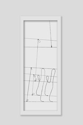 Martina Lückener  über_kreuz 6  2013 80x30cm Zeichnung Martina Lückener
