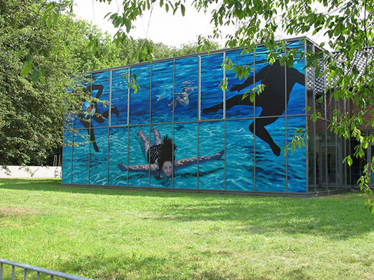 Elke Seppmann und Martina Lückener  Wasserspiel, Installation C-Print auf Wasserwerk Ostbevern 2011