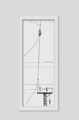 Martina Lückener  über_kreuz 2  2013 80x30cm Zeichnung