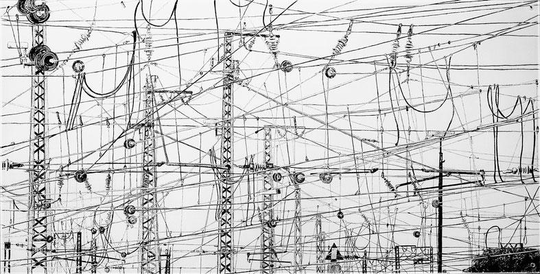 Martina Lückener  verwoben 2014 70x140cm Zeichnung