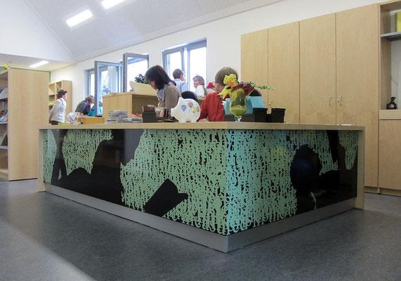 Martina Lückener  Installation Lesende Burg-Steinfurt