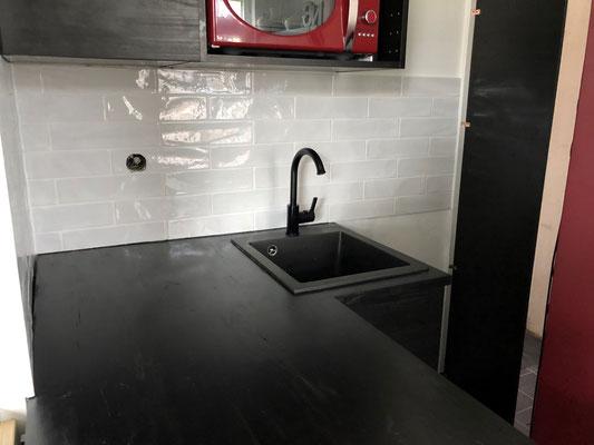 Küchenfliesenspiegel in Weiß