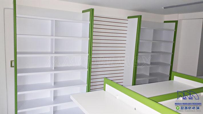 Mostradores y vitrinas para papelerías, muebles para papeleras