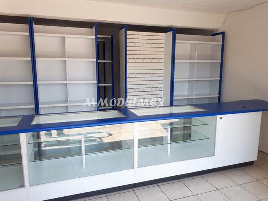 Vitrinas para farmacias, vitrinas para papelerías, vitrinas para tiendas, mostradores para negocios, vitrinas para boutiques