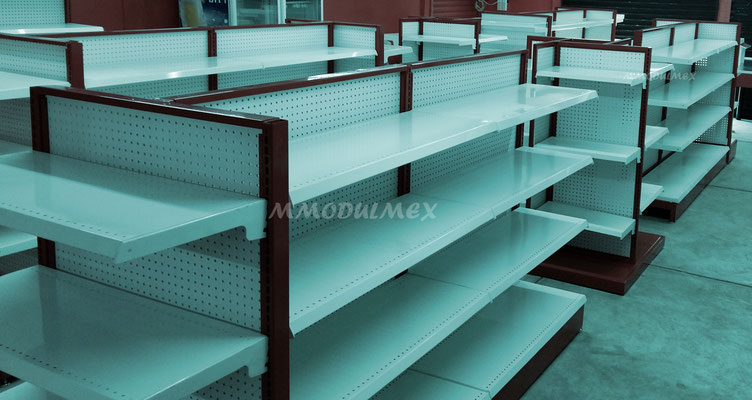 Muebles de tiendas tipo oxxo, mostradores para farmacia, estantes para tiendas, vitrinas para papelería, góndolas metálicas