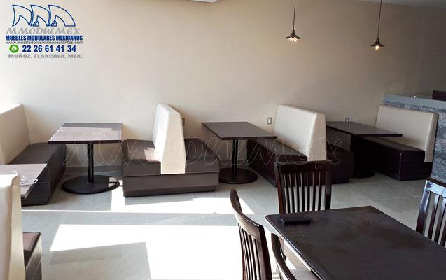 sillones para restaurantes, booths para restaurantes