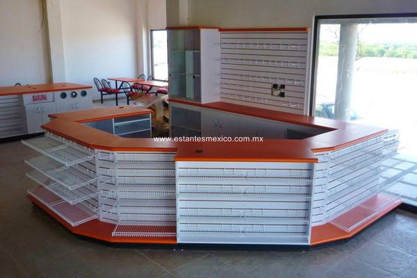 Mostradores para tienda, mostradores para negocio, mostradores para papelería, mostradores para farmacia, mostradores de madera, mostradores baratos