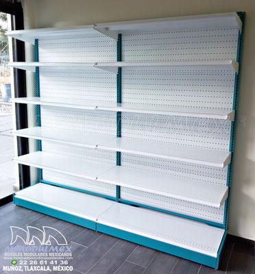 Góndolas metálicas para tiendas, góndolas metálicas para minisuper, góndolas para supermercados