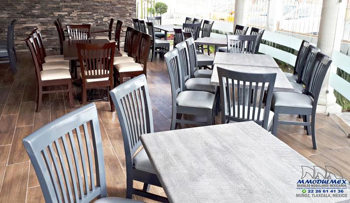 Sillas de madera para restaurantes, mesas para restaurantes