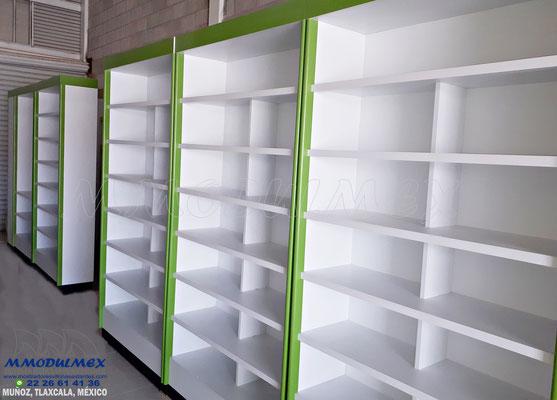 Mostradores y vitrinas para papelerías, estantes para papelerías