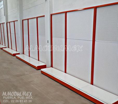 Góndolas de pared, góndolas para abarrotes