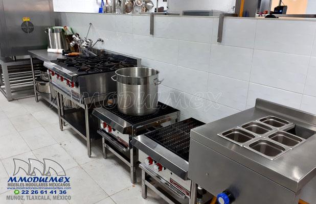 Parrillas, estufones, estufas para restaurantes