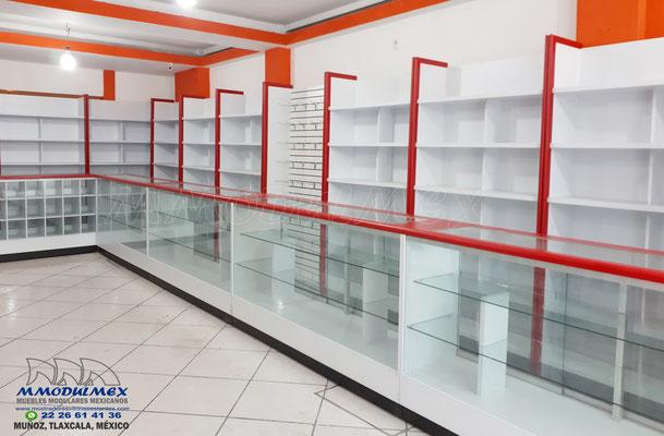 Mostradores y vitrinas para papelerías, anaqueles para negocios
