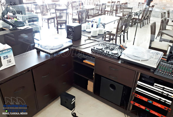 Cabina de audio para restaurante