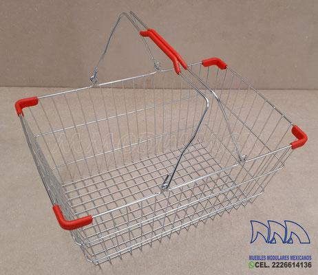 Canastas de mano, canastillas de mano para súper, canastas para supermercado, canastas para tiendas