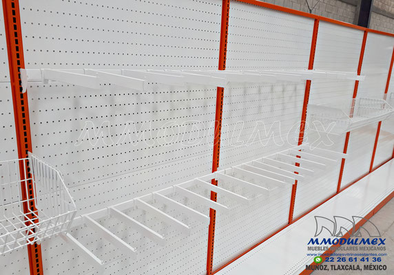 góndolas metálicas, góndolas para supermercados, góndolas para minisuper, góndolas para negocios, muebles para farmacias, muebles para tiendas