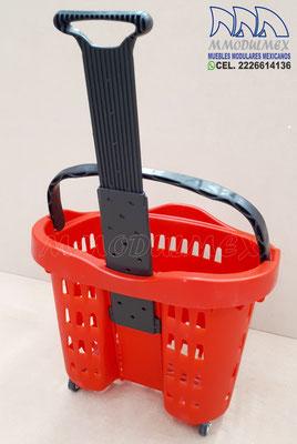 canasta de ruedas para súper, canastillas de mano para supermercado, canastillas para mandado