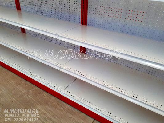 Góndolas para supermercados, anaqueles metálicos, estantes metálicos, entrepaños metálicos, estantería metálica, muebles para minisuper
