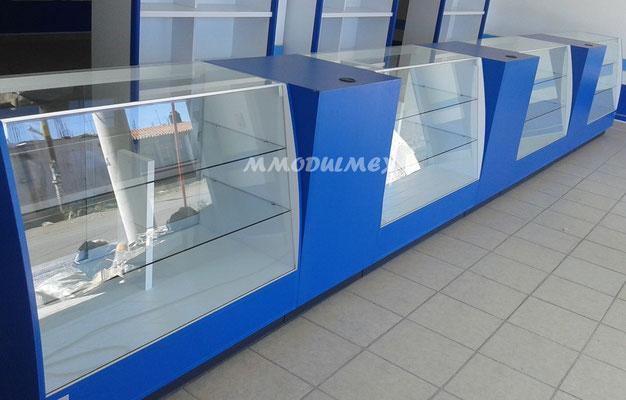 mostradores de madera, vitrinas para farmacia, vitrinas para papeleria, muebles para farmacia, muebles para papeleria, aparadores para farmacia