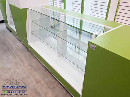 Mostradores y vitrinas para papelerías