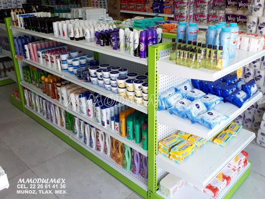 Gondolas metalicas para supermercado, góndolas para abarrotes, estantería para minisuper