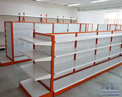Muebles para truper, mostradores para ferreterías, anaqueles para ferreterías, rack para ferretería, góndolas para ferreterías