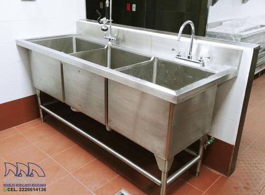 Muebles de acero inoxidable, muebles para restaurantes, muebles para cocinas industriales, baño maría
