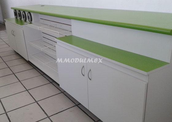 Muebles para fastfood, muebles para tiendas, muebles para comida rápida, muebles para cafeterías, barras para comida, muebles de madera