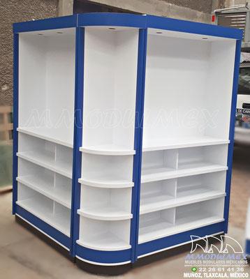 muebles de madera, góndolas de madera, góndolas para tiendas, muebles para farmacias.