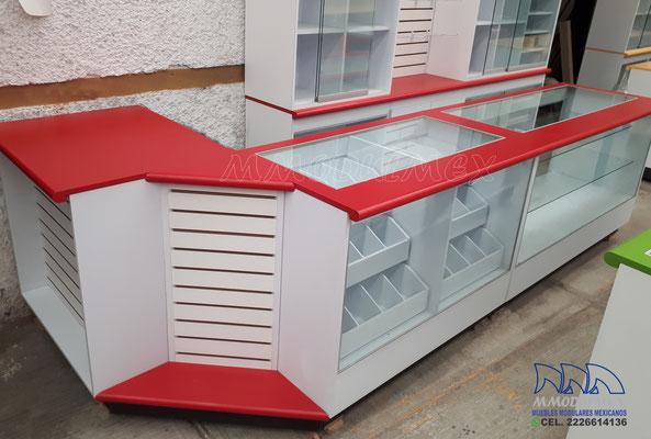 Mostradores y vitrinas para tiendas