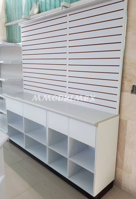 mostradores de madera, vitrinas para farmacia, vitrinas para papeleria, muebles para farmacia, muebles para papeleria, exhibidores para tiendas