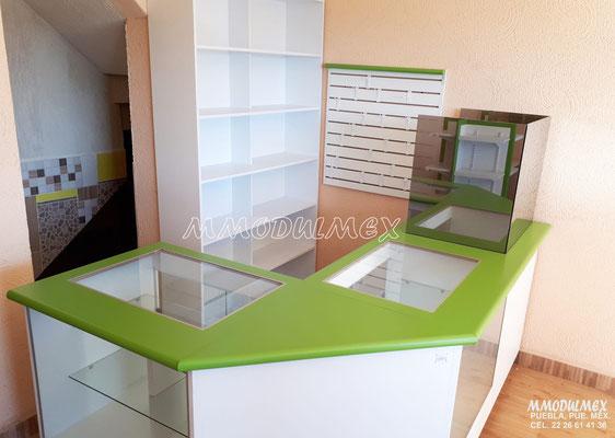 Mostradores para tienda, mostradores para negocio, mostradores para papelería, mostradores para farmacia, mostradores de melamina, mostradores baratos