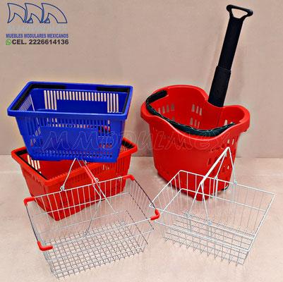 Canastas de mano, canastillas de mano para súper, canastas para supermercado, canastillas para tiendas