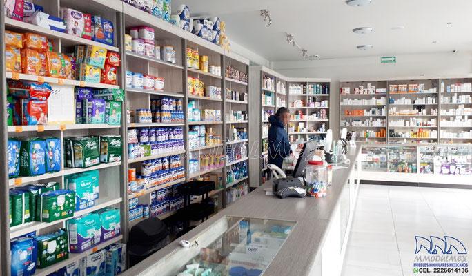 Mostrador para farmacia, vitrina para farmacia, mueble para farmacia