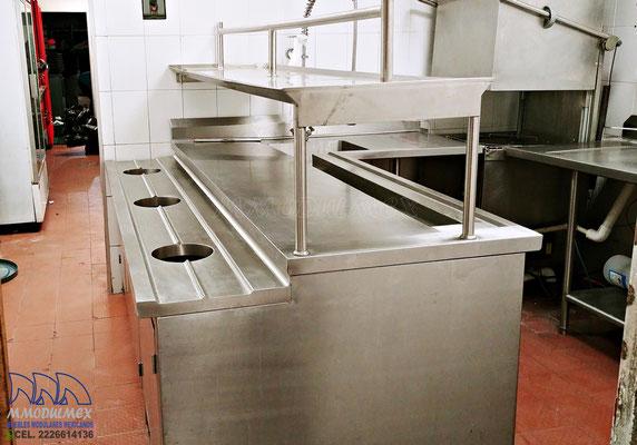 Muebles de acero inoxidable, muebles para restaurantes, muebles para cocinas industriales